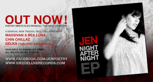 JEN night after night EP - out now - ideedeluxe records